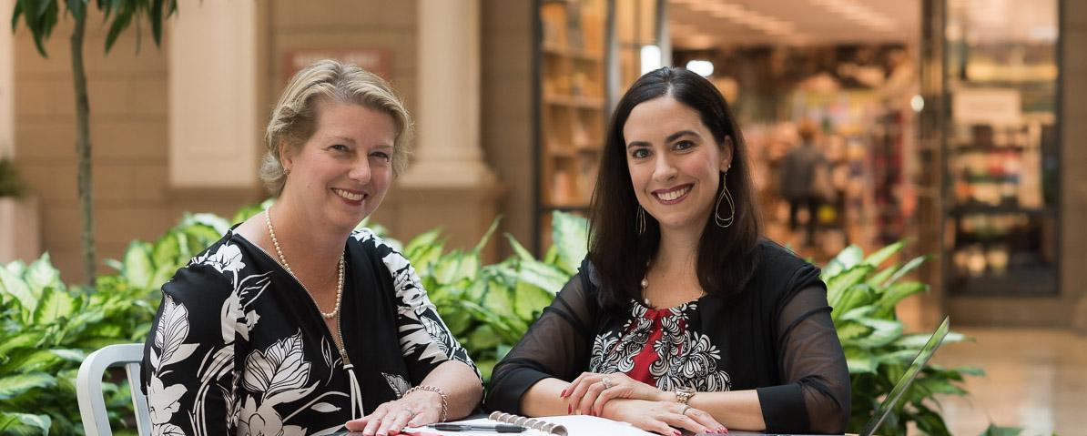 Molly Balunek and Kara Downing